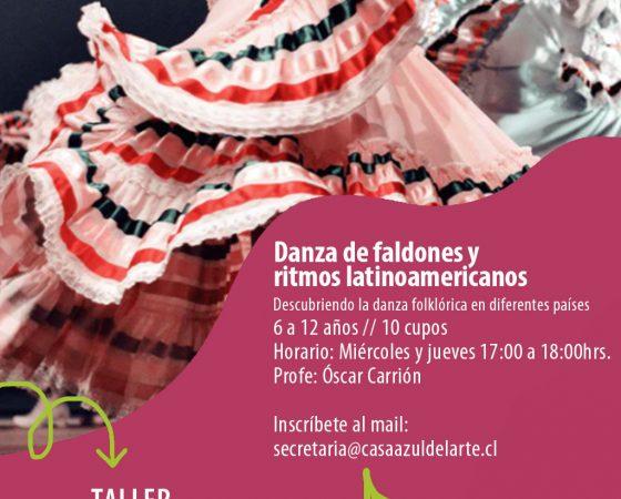 Danza de faldones y  ritmos latinoamericanos